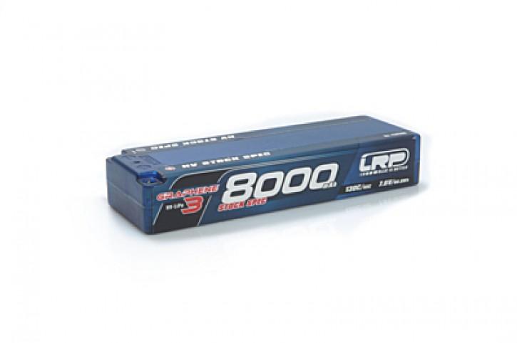 LRP Graphene-3 Stock Spec 8000mAh 7.6V 2S 130C/65C HV LiPo - 5mm