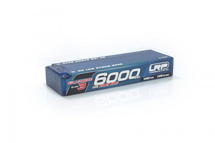 LRP Graphene-3 LCG Stock Spec 6000mAh 7.6V 2S 130C/65C HV LiPo - 5mm