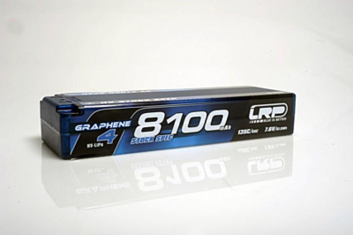 LRP LiPo 8100mAh HV Stock Spec Graphene-4 7,6V LiPo 135C/65C - 5mm