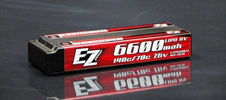 EZPower HV LCG 6600mAh 140/70C LiPo Akku 2S 7,6V Graphene 4mm Buchse