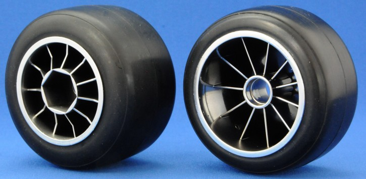RideF104 Pre-glued Rubber Rear 61mm Tires, XR High Grip Compound