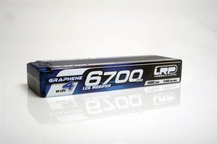 LRP LiPo 6700mAh HV LCG Modified Graphene-4 7,6V LiPo 120C/60C - 274g