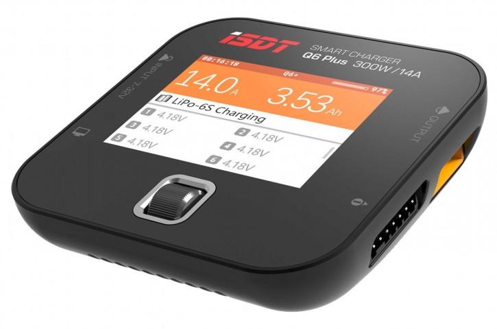 Ladegerät iSDT SMART CHARGER Q6 Plus ohne Netzteil mit max. 300 W Leistung, bis zu 14 A Ladestrom und LC-Farbdisplay