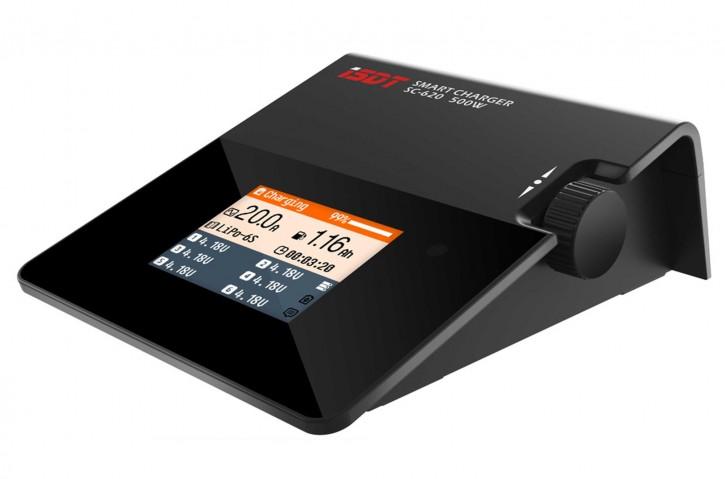 Ladegerät iSDT SMART CHARGER SC-620 ohne Netzteil mit max. 500 W Leistung, bis zu 20 A Ladestrom und LC-Farbdisplay