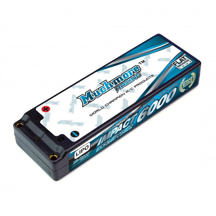 MuchMore IMPACT 6000mAh/7.4V 90C FD2 Li-Po Battery Flat Hard Case