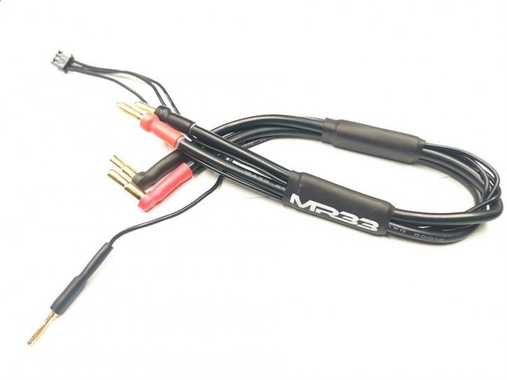 MR33 2S All-Black Charging Lead - 300mm - (4/5mm Dual Plug - XH)