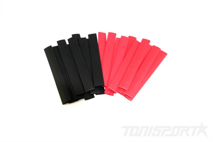 MR33 Shrinking Tube Ø 8mm x 10cm - 10pcs Black + 10pcs Red