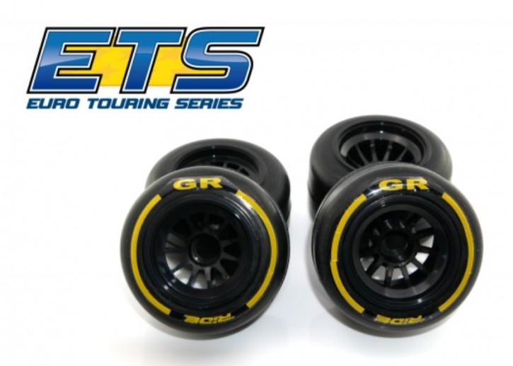 Ride F1 Front Rubber Slick Tires GR Compound 61mm Preglued Asphalt
