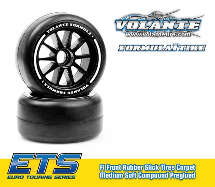 Volante F1 Front Rubber Slick Tires Medium Soft Compound Preglued