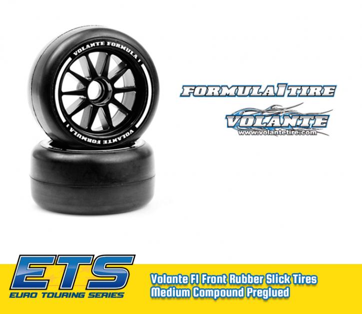 Volante F1 Front Rubber Slick Tires Medium Compound Preglued