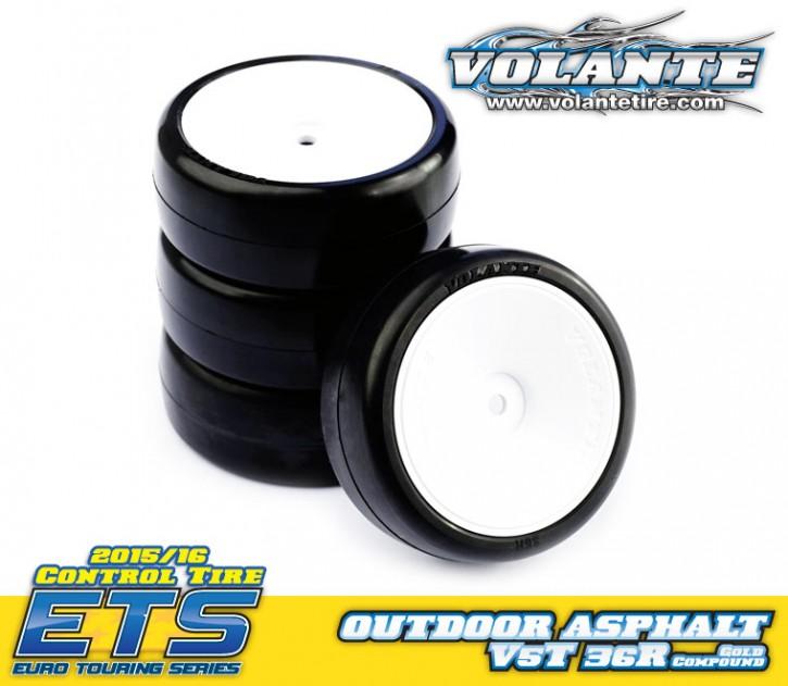 Volante V5 1/10 Outdoor Rubber Tire Pre-glued 4pcs