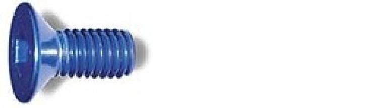 M3x6mm Senkkopfschraube blau (4)