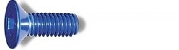 M3x8mm Senkkopfschraube blau (4)