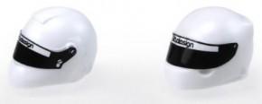White plastic F1 Helmet 1/10 [Universal], TYPE C