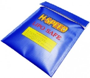 LIPO Safe Bag H-Speed 23x30 blau