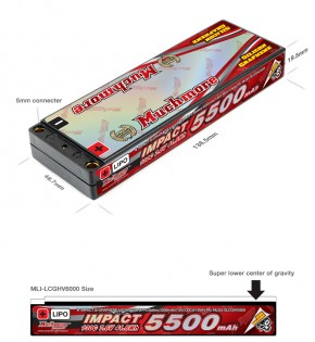 MuchMore IMPACT Silicon Graphene Lipo Super LCG HV FD4 5500mAh 7.6V