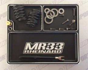 MR33 Luxury Aluminum Part Tray - Black