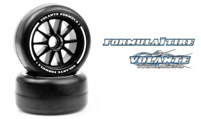 Volante F1 Front Rubber Slick Tires Medium Compound Preglued