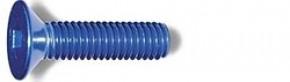 M3x15mm Selbstschn. Senkkopfschraube blau (4)